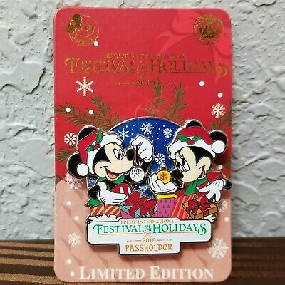 2019 Disney Parks Epcot Festival of the Holidays Mickey/Minnie Pin-LE/Passholder