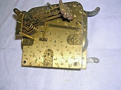 CLOCK  PARTS  , BRASS  MOVEMENT, 5 HAMMERS  , g w o