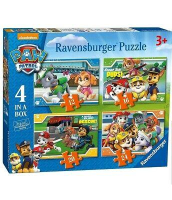 3 × Ravensburger 4 Puzzles in a Box Paw Patrol 06936