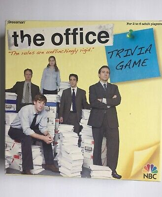 The Office Trivia Board Game Dunder Mifflin NBC Pressman. Pre-owned