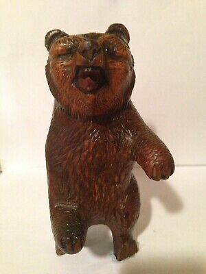 A 19th Century Black Forest Bear Red Glass Eyes Lovely Patina