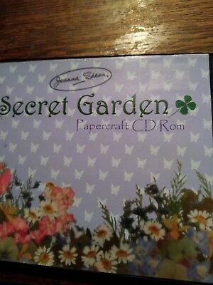 Joanna sheen secret garden papercraft cd rom