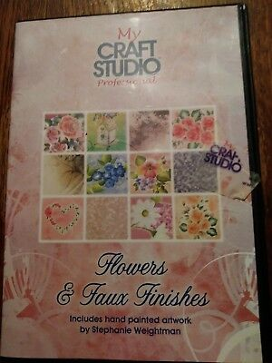 My craft studio flowers & faux finishes cd rom