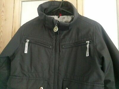 Girls black hooded ski jacket age 7-8 years by Spyder sparkly winter coat