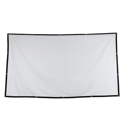 Folded Projection Screen 16:9 Polyester 84 Inch Outdoor Gaming Durable Port S3T3