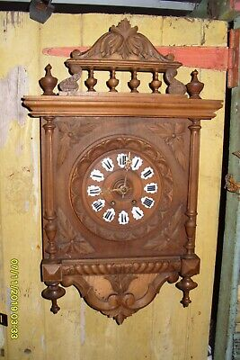 "Wall Clock Striking Works  Key And Pendulum  Large  Clock 26"" X 16"""