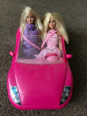 Barbie Pink Glam Convertible Car + Dolls bundle – ideal for Christmas