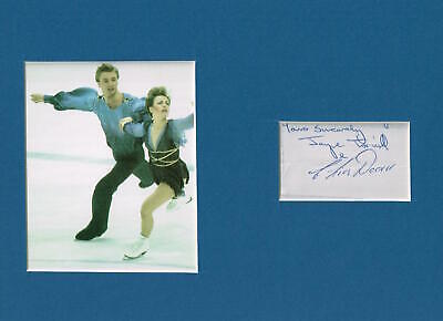Torville And Dean Matted Autograph