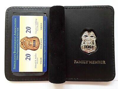 "1""Authentic"" 2020 Sba Pba Card With Leather Family Member Wallet Not Dea Cea Lba"