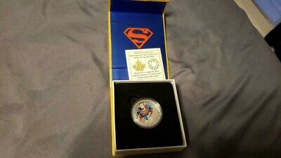 2014 Rcm 15$ Fine Silver Coin Iconic Superman Comic Covers Action Comic # 419