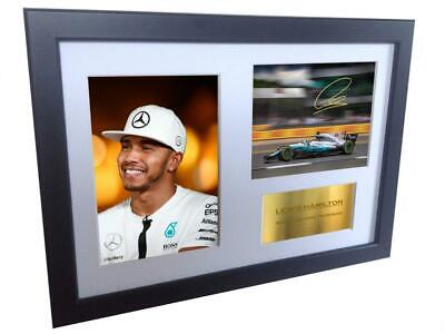 Signed Lewis Hamilton F1 Formula One Autographed Photo Picture Frame Photograph