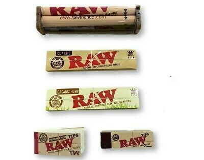 Raw Rolling Paper Combo/Collection Roller Machine+Papers+Tips