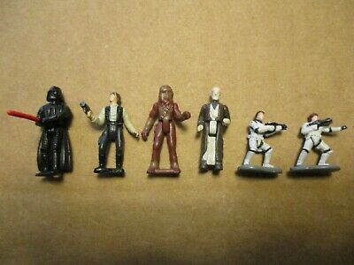 Vintage Star Wars Micro Machines Classic Lot of 6 Mini Figures!