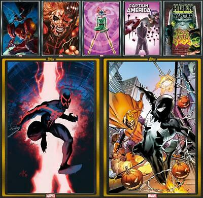 Topps Marvel Collect COMIC BOOK DAY December 11 2019 [7 CARD GOLD/SILVER SET]