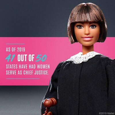 Brand New 2019 Barbie Career of the Year Judge Doll with Short Brown Hair