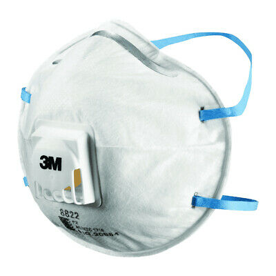 3M 8822 Cupped Particulate Respirator Particulate Respirator P2 Valved Box Of 10