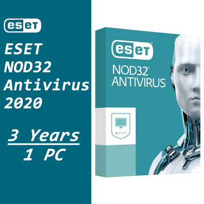 ESET NOD32 Antivirus 2020 Internet Security Instant Delivery 3 Years / 1-PC