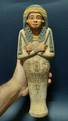 ANCIENT EGYPTIAN ANTIQUES QUEEN USHABTI SHABTI STATUE Servant Minions STONE BC