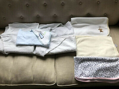 Baby Hooded Towels X 5 & 3 X Blankets