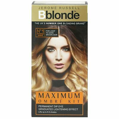 Jerome Russell Bblonde Light to Dark Brown Hair Maximum Ombre Kit New