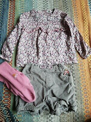 Smock Top, Bloomers And Tights Set 2-3 Years
