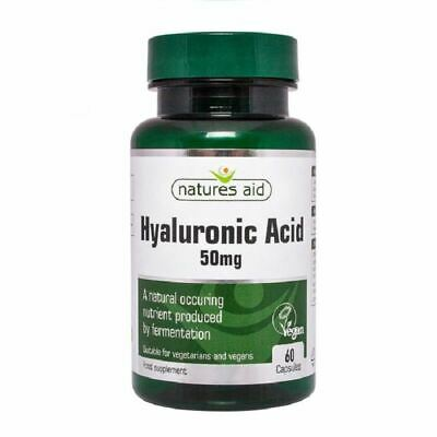 Natures Aid Hyaluronic Acid 50mg 60 Caps New