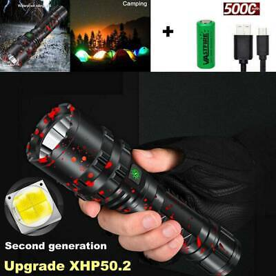 Upgraded High Power 900000Lumens XHP50 Flashlight LED Rechargeable Torch 5 MODES