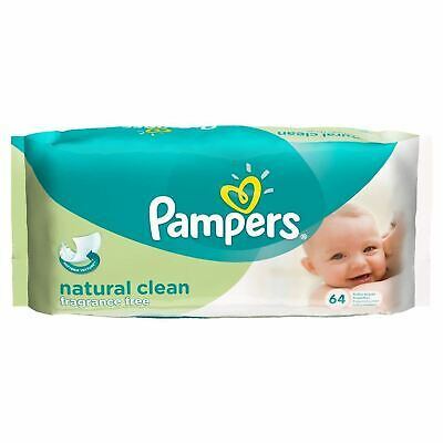 Pampers Baby Wipes Fragrance Free Single 64 New