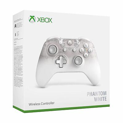 Microsoft Xbox One Wireless Controller Phantom White New Sealed Official
