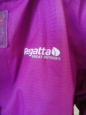 Girls Age 7-8 Years Regatta Rain Coat Jacket Pink Showerproof