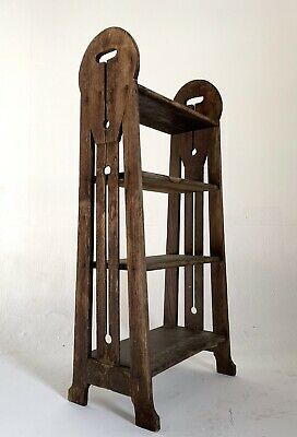 Antique Mission Oak Book Stand Rack Shelf Arts And Craft * Roycroft Stickley Era