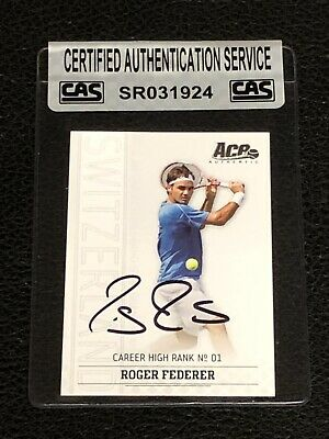 Roger Federer 2006 Ace Authentic Signed Autographed Card Tennis Cas Authentic