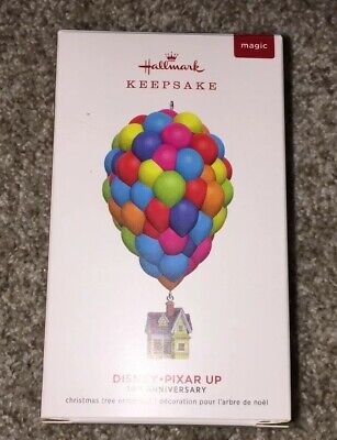 2019 Hallmark Disney Pixar UP 10th Anniversary Ornament BALLOON HOUSE FREE SHIP!