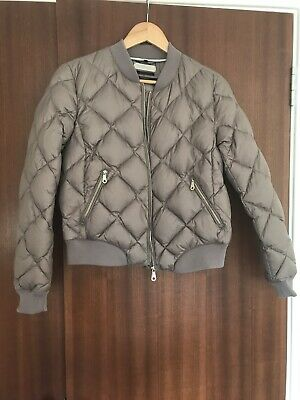 Massimo Dutti Coat Brown Gold Beige Size L Real Down Bomber Jacket Warm Coat