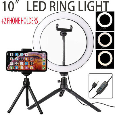 """10"""" LED Ring Light with Stand Lighting Kit Phone Light for Youtube Live Makeup"""