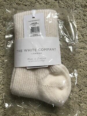 BNWT White Company 100% Cashmere Ladies Socks Ivory