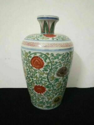 Large Chinese Antique Porcelain Flower Pattern Vase Hand-painted Pot Marks WanLi