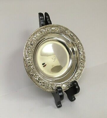 """Kirk Repousse Sterling Silver Wine Coaster 6 1/4"""""""