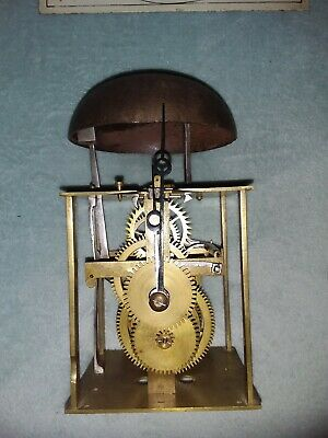 18th Century Birdcage 30 Hour Longcase Clock Movement With Dial