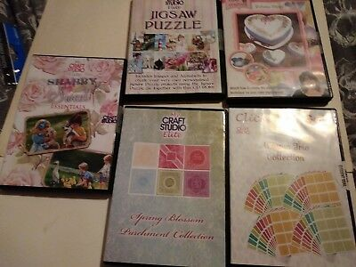 Joblot of 5 crafting cd rom / dvd set 4