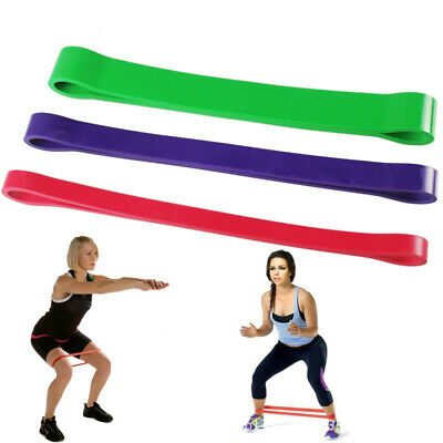 3Pcs Heavy Duty Resistance Band Loop Exercise Yoga Workout Power Gym Fitness