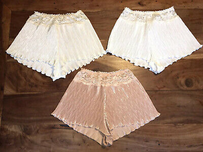 Cute VTG St Michael Set Of 3 Size 12 Frilly Creased Floral Shorts Lovey Set #C20