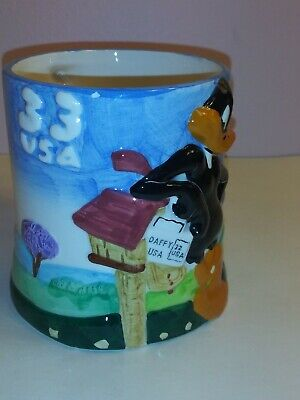 1999 Looney Tunes USPS Gibson Houseware 3D Design Mug. 33 Daffy duck VINTAGE