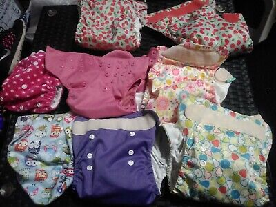 LOT Of 8 Reusable Diapers For REPAIR Totsbot, Lovely Pocket