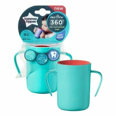 Tommee Tippee 360 Handled Cup Teal New