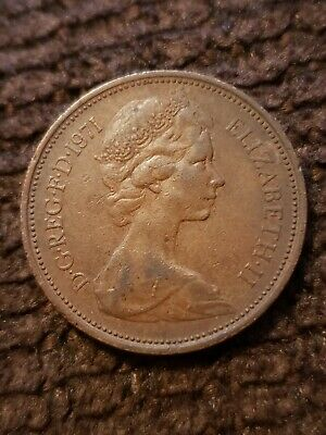 UK British 2 New Pence 1971 Elizabeth II Foreign Coin /EXTREMELY RARE