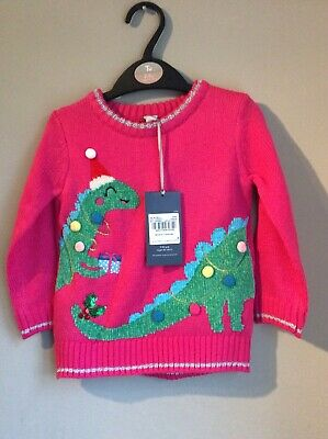 Girls Christmas jumper Tu Sainsbury's Age 18 Months 2 years Next New BNWT CARDI