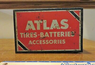 Atlas Tires Batteries Accessories Sign