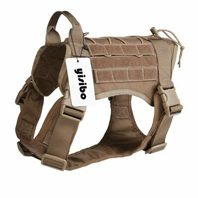 K9 Tactical Service Dog Harness Military Patrol Moll System Vest W/Handle M
