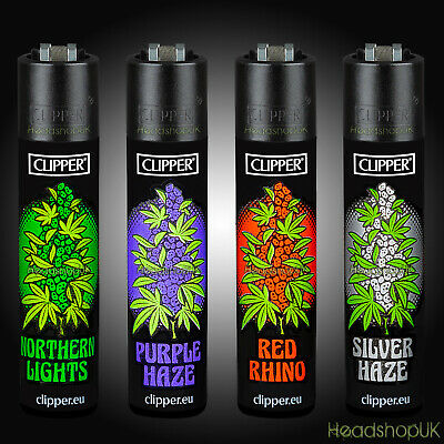 4 x Clipper Lighters RARE Gas Lighter Refillable Flint | OLD SCHOOL STRAINS